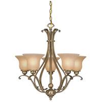 Vaxcel CH35405A/C Monrovia 5 Light 26 inch Antique Brass Chandelier Ceiling Light