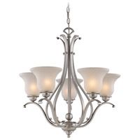 Vaxcel CH35405BN Monrovia 5 Light 26 inch Brushed Nickel Chandelier Ceiling Light