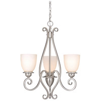 Mont Blanc 3 Light 21 inch Satin Nickel Mini Chandelier Ceiling Light