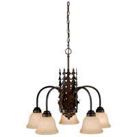Vaxcel CH55405BBZ Bryce 5 Light 26 inch Burnished Bronze Chandelier Ceiling Light