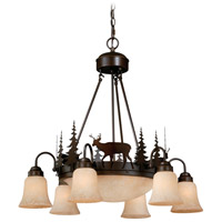 Vaxcel CH55406BBZ Bryce 9 Light 29 inch Burnished Bronze Chandelier Ceiling Light