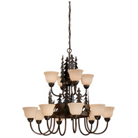 Vaxcel CH55412BBZ Bryce 12 Light 39 inch Burnished Bronze Chandelier Ceiling Light