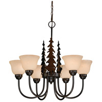 Vaxcel CH55456BBZ Bryce 6 Light 28 inch Burnished Bronze Chandelier Ceiling Light