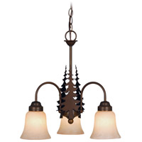Yosemite 3 Light 19 inch Burnished Bronze Mini Chandelier Ceiling Light