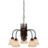Vaxcel CH55505BBZ Yosemite 5 Light 26 inch Burnished Bronze Chandelier Ceiling Light