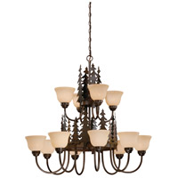 Vaxcel CH55512BBZ Yosemite 12 Light 39 inch Burnished Bronze Chandelier Ceiling Light