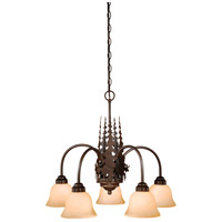 Vaxcel CH55605BBZ Yellowstone 5 Light 26 inch Burnished Bronze Chandelier Ceiling Light