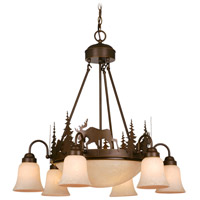 Vaxcel CH55606BBZ Yellowstone 9 Light 29 inch Burnished Bronze Chandelier Ceiling Light