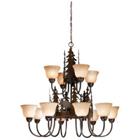 Vaxcel CH55612BBZ Yellowstone 12 Light 39 inch Burnished Bronze Chandelier Ceiling Light