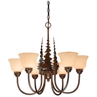 Vaxcel CH55656BBZ Yellowstone 6 Light 28 inch Burnished Bronze Chandelier Ceiling Light