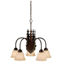 Vaxcel CH55705BBZ Bozeman 5 Light 26 inch Burnished Bronze Chandelier Ceiling Light