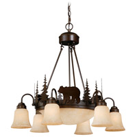 Vaxcel CH55706BBZ Bozeman 9 Light 29 inch Burnished Bronze Chandelier Ceiling Light