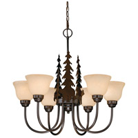 Vaxcel CH55756BBZ Bozeman 6 Light 28 inch Burnished Bronze Chandelier Ceiling Light
