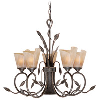 Vaxcel CP-CHB006BW Capri 6 Light 29 inch Black Walnut Chandelier Ceiling Light