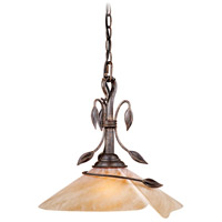 Vaxcel CP-PDD150BW Capri 1 Light 15 inch Black Walnut Pendant Ceiling Light