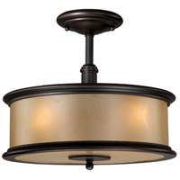 Carlisle 3 Light 14 inch Noble Bronze Semi-Flush Mount Ceiling Light