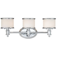 Vaxcel CR-VLU003CH Carlisle 3 Light 22 inch Chrome Vanity Light Wall Light