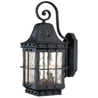 Edinburgh 2 Light 18 inch Textured Black Outdoor Wall Light