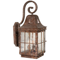 Edinburgh 3 Light 23 inch Colonial Iron Outdoor Wall Light