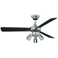 Vaxcel F0003 Cyrus 42 inch Chrome with Black/Silver Blades Ceiling Fan