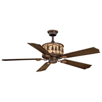 Yosemite 56 inch Burnished Bronze with Rosewood/Dark Walnut Blades Ceiling Fan
