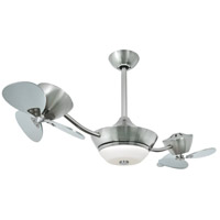 Vaxcel F0018 Eclipse II 43 inch Satin Nickel with Silver Blades Ceiling Fan