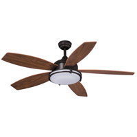 Vaxcel F0038 Tali LED 52 inch Oil Burnished Bronze with Walnut Blades Ceiling Fan