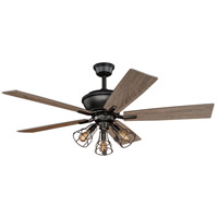 Vaxcel F0042 Clybourn 52 inch Bronze with Driftwood/Dark Maple Blades Ceiling Fan