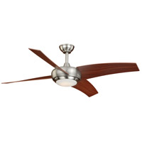 Vaxcel F0043 Racine 48 inch Satin Nickel with Walnut Blades Ceiling Fan