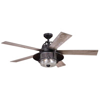 Vaxcel F0044 Charleston 56 inch New Bronze with Driftwood/Dark Maple Blades Ceiling Fan