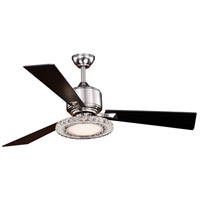 Vaxcel F0048 Clara 52 inch Brushed Nickel with Black Blades Ceiling Fan Integrated Dimmable Remote