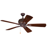 Vaxcel F0049 Alpine 52 inch Weathered Patina with Walnut/Knotty Pine Blades Ceiling Fan