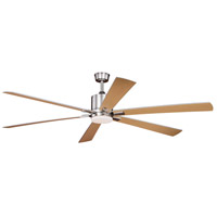 Vaxcel F0050 Wheelock 60 inch Brushed Nickel with Maple/Silver Blades Ceiling Fan