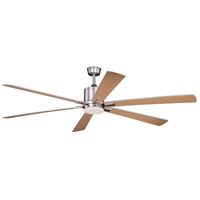 Vaxcel F0051 Wheelock 72 inch Brushed Nickel with Maple/Silver Blades Ceiling Fan
