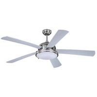 Vaxcel F0052 Tali Ii 52 inch Satin Nickel with Silver/Black Blades Ceiling Fan