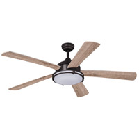 Tali II 52 inch Oil Burnished Bronze with Driftwood/Walnut Blades Ceiling Fan