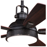 Vaxcel F0060 Walton 52 inch Gold Stone with Dark Bronze and Mocha Blades Ceiling Fan, Integrated Dimmable Remote alternative photo thumbnail