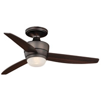 Adrian 44 inch Copper Bronze with Dark Espresso Blades Ceiling Fan, Integrated Dimmable Remote