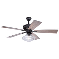 Vaxcel F0066 Huntley 52 inch Bronze with Driftwood-Dark Maple Blades Ceiling Fan, Integrated Dimmable Remote