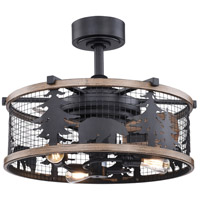 Vaxcel F0068 Kodiak 21 inch Oil Rubbed Bronze and Burnished Teak with Anigre Blades Ceiling Fan