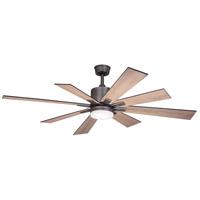Vaxcel F0081 Crawford 60 inch Dark Nickel with Oak-Black Walnut Blades Indoor/Outdoor Ceiling Fan