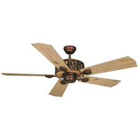 Vaxcel FN52265WP Log Cabin 52 inch Weathered Patina with Washed Oak-Pine Blades Ceiling Fan