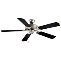 Vaxcel FN52288BS Medallion 52 inch Flash Silver with Silver/Black Blades Ceiling Fan