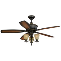 Vaxcel FN52997OR Sebring 52 inch Vintage Bronze with Smoked Walnut/Rosewood Blades Ceiling Fan