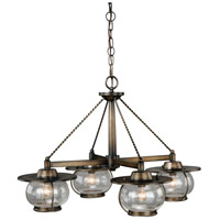 Vaxcel H0007 Jamestown 4 Light 28 inch Parisian Bronze Chandelier Ceiling Light