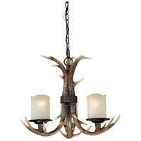 Vaxcel H0013 Yoho 3 Light 21 inch Black Walnut Chandelier Ceiling Light