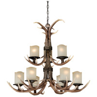 Vaxcel H0014 Yoho 9 Light 36 inch Black Walnut Chandelier Ceiling Light