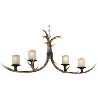 Vaxcel H0015 Yoho 4 Light 23 inch Black Walnut Chandelier Ceiling Light