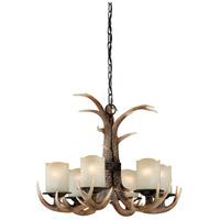 Vaxcel H0016 Yoho 6 Light 25 inch Black Walnut Chandelier Ceiling Light