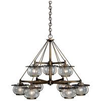 Vaxcel H0028 Jamestown 9 Light 35 inch Parisian Bronze Chandelier Ceiling Light